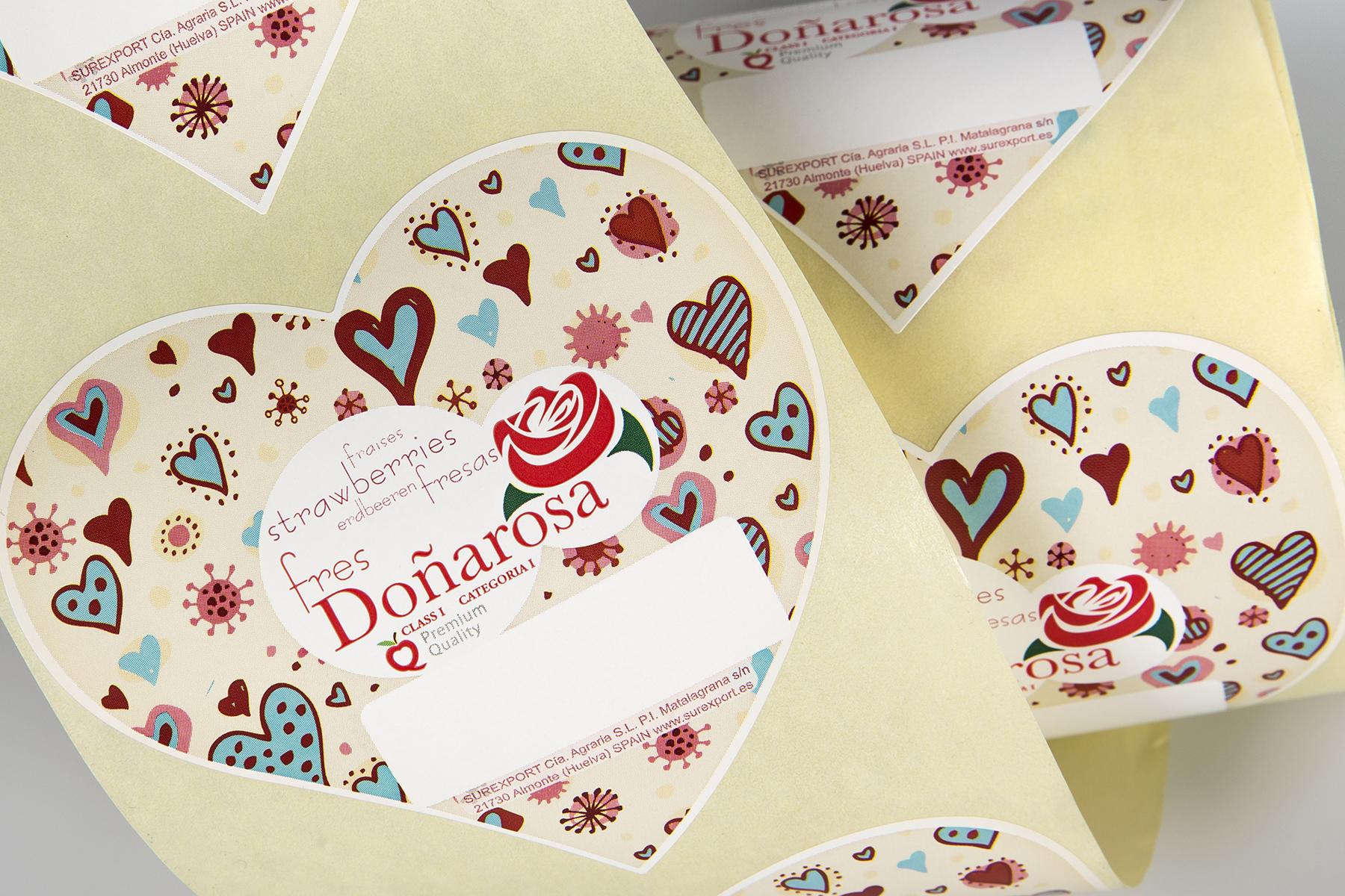 Etiqueta fresas Doñarosa
