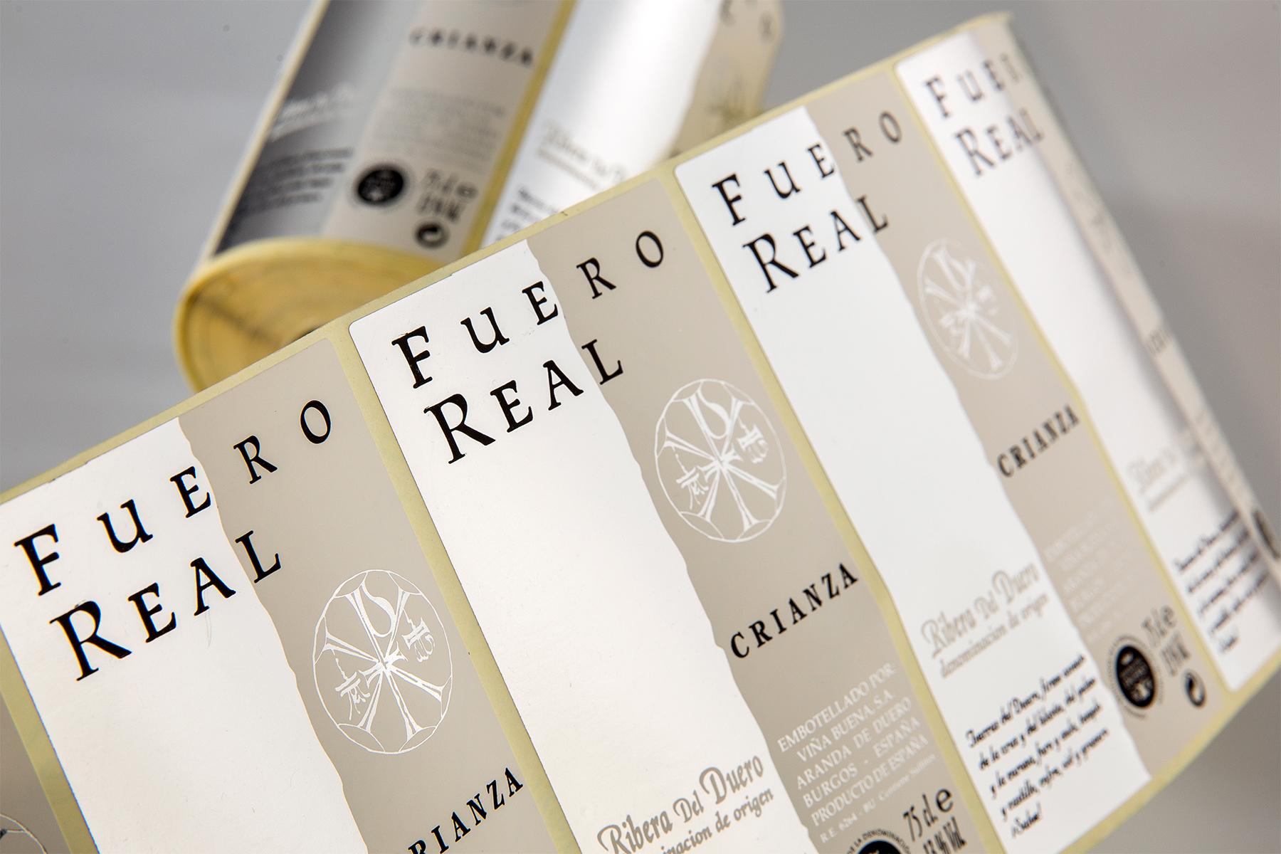 Etiqueta vino Fuero Real