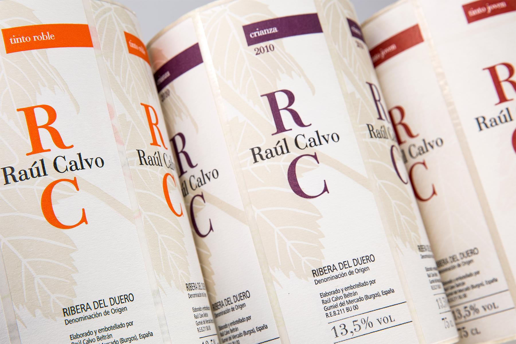 Etiqueta vino Raul Calvo